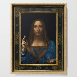 Leonardo da Vinci - Salvator Mundi - Digital Restored Edition Serving Tray