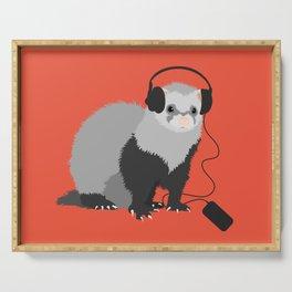 Music Loving Ferret Serving Tray