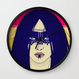 Tribal Lady Wall Clock