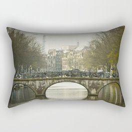 Bike Bridge Amsterdam Rectangular Pillow