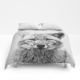 Coyote - Black & White Comforters