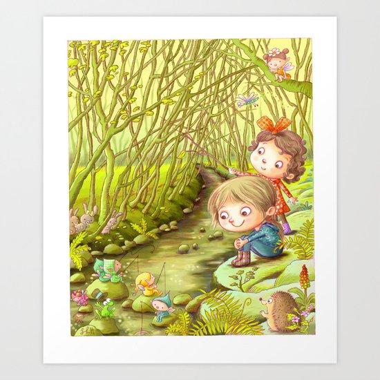 The Stream Art Print