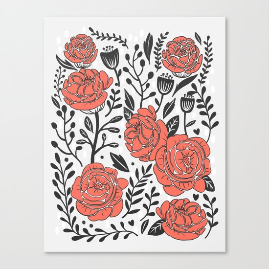 Orange Garden Canvas Print