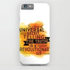 Revolutionary Act - quote design iPhone 6s Slim Case
