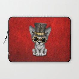 Steampunk Baby Wolf Cub Laptop Sleeve