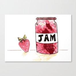 Strawberry VS Jam Canvas Print