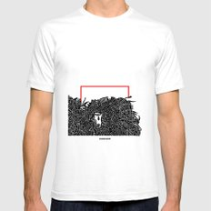 - migrants - SMALL Mens Fitted Tee White