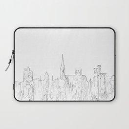 Cork, Ireland Skyline B&W - Thin Line Laptop Sleeve