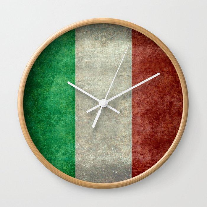 Italian Flag Vintage Retro Style Wall Clock