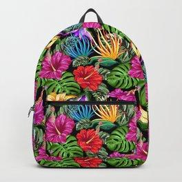 Tropical Flora Summer Mood Pattern Backpack