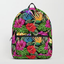 Tropical Flora Summer Mood Pattern Backpack