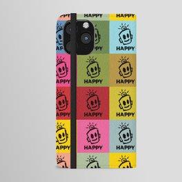 HAPPY SQUARES iPhone Wallet Case