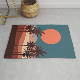 Abstract Landscape 13 Portrait Rug