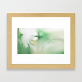 Hellebore and leaves Framed Art Print