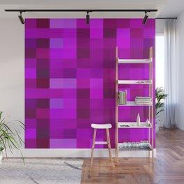 Purple Mosaic Wall Mural