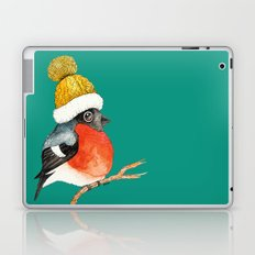 Christmas Bird Bullfinch Laptop & iPad Skin