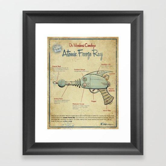 Atomic Freeze Ray Framed Art Print