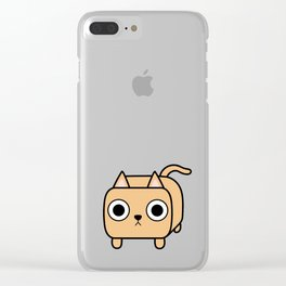 Cat Loaf - Orange Kitty Clear iPhone Case