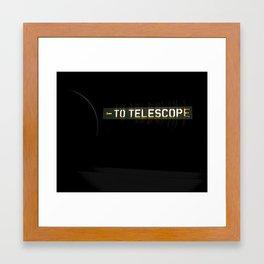 to telescope Framed Art Print