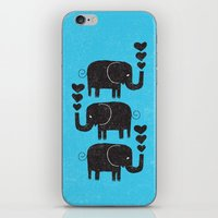 elephants iPhone & iPod Skins featuring ELEPHANTS by Matthew Taylor Wilson