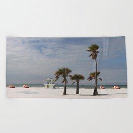 Clearwater Beach In Wintertime Beach Towel