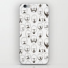 Moustaches and Beards iPhone & iPod Skin