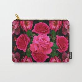 GARDEN ART OF FUCHSIA PINK ROSES Carry-All Pouch