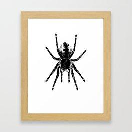 Scary Tarantula Spider Halloween Black Arachnid Framed Art Print