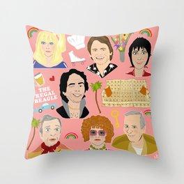 Three's Company Universe Throw Pillow