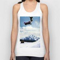 ski Tank Tops featuring ski Mountain by Colton