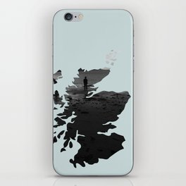 'Wandering' Scotland map iPhone Skin