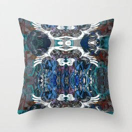 Bird Motif Abstract Aboriginal Pattern Throw Pillow