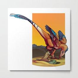 Curious Raptor Metal Print