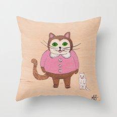 Two Kitties Throw Pillow