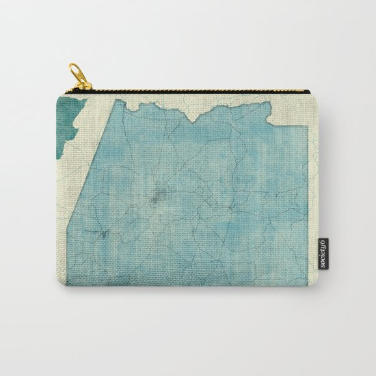 Arizona State Map Blue Vintage Carry-All Pouch