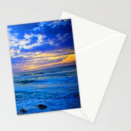 Tel Aviv Beach Sunset Stationery Cards