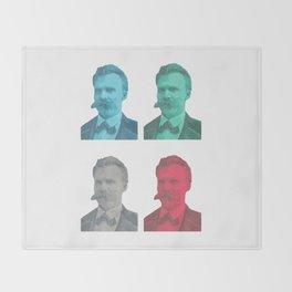 Friedrich Nietzsche Throw Blanket
