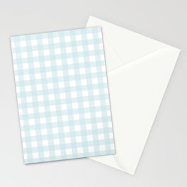 Baby blue gingham pattern Stationery Cards