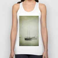 boats Tank Tops featuring Two boats by Victoria Herrera