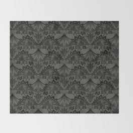 Stegosaurus Lace - Black / Grey - Throw Blanket