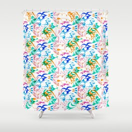 Abstract Bold Joy 2 Shower Curtain