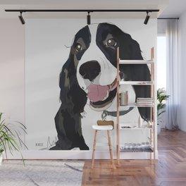 English Springer spaniel dog b/w Wall Mural