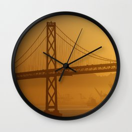 Stunning California Golden Sunrise Wall Clock