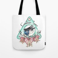 coraline Tote Bags featuring Coraline Jones by Alizia Vence