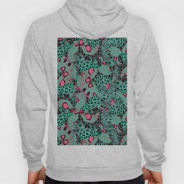 Turquoise and pink. butterflies Hoody