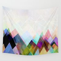 mountain Wall Tapestries featuring Graphic 104 by Mareike Böhmer