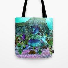 Exploration 3D Aquarium SHARKS Tote Bag
