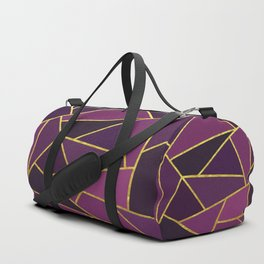 The Color of Purple And Gold Duffle Bag