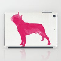 boston terrier iPad Cases featuring Boston Terrier by Three Black Dots