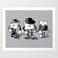 computer Art Prints featuring Computer Mafia by MEKAZOO